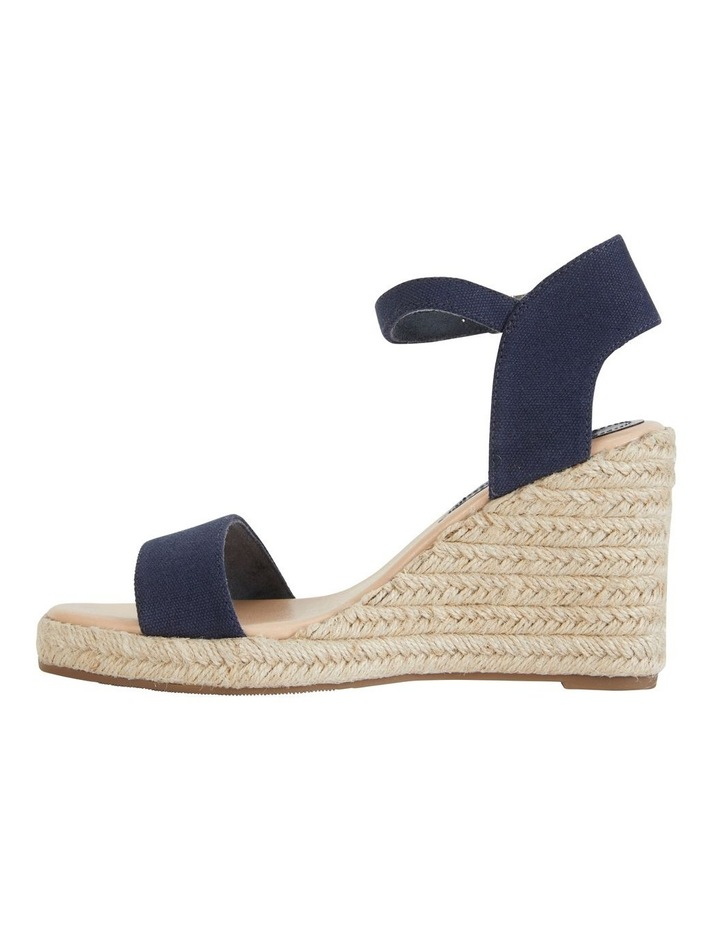 Audrey Navy Linen Sandal image 3