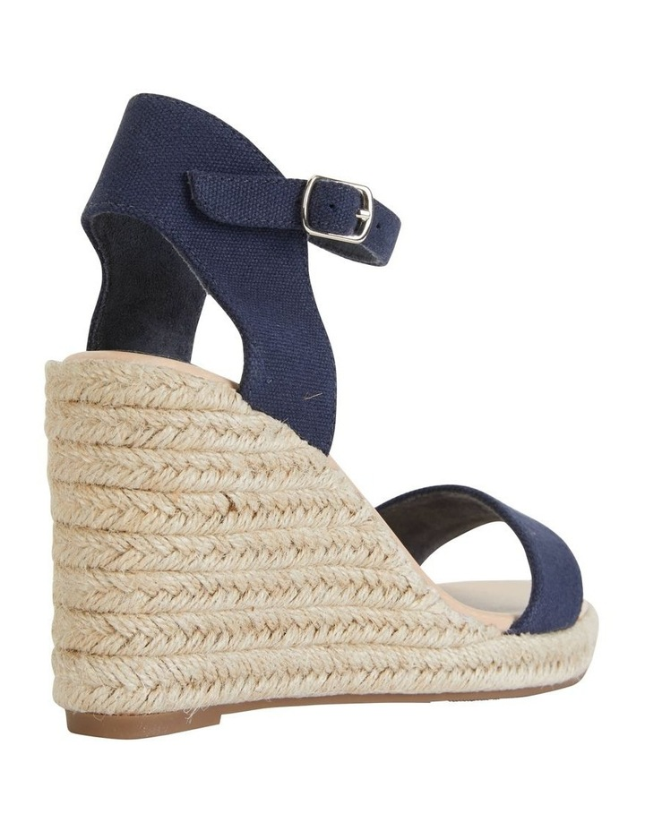 Audrey Navy Linen Sandal image 4
