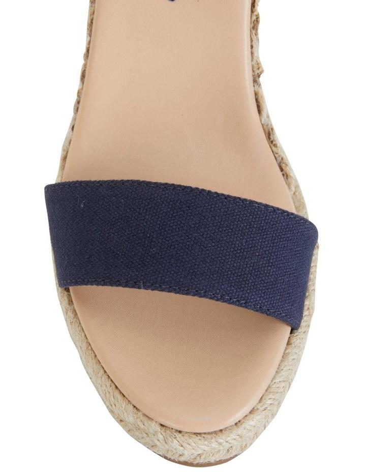 Audrey Navy Linen Sandal image 6