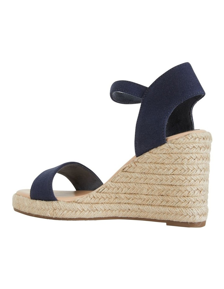 Audrey Navy Linen Sandal image 7