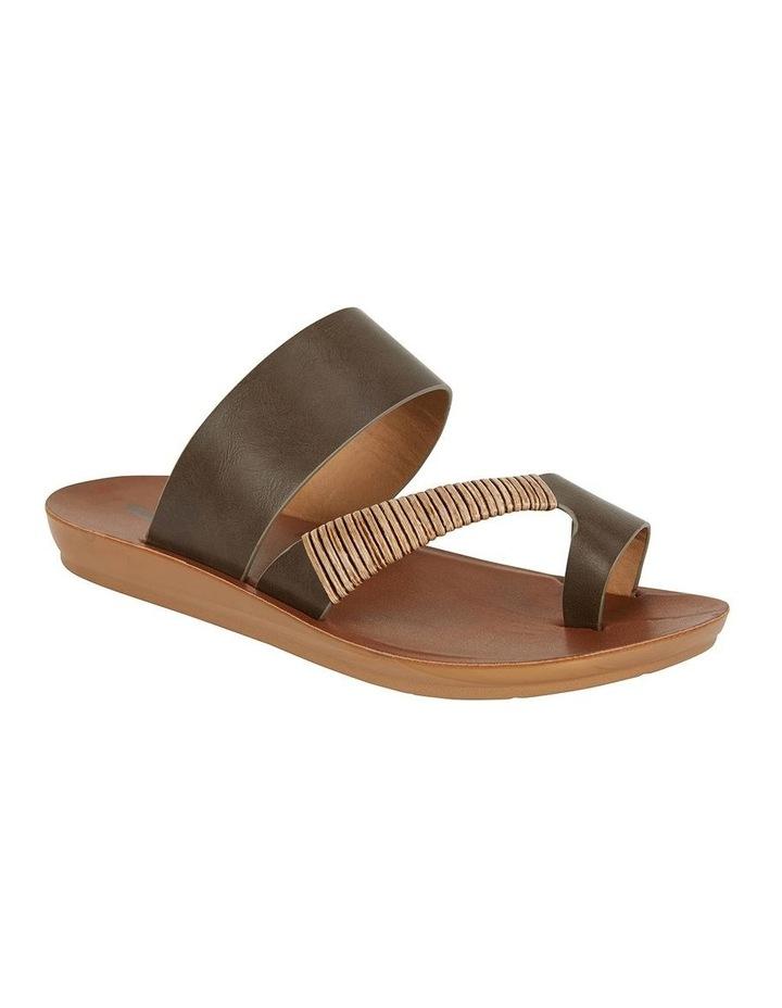 Gidget Khaki Smooth Sandal image 2