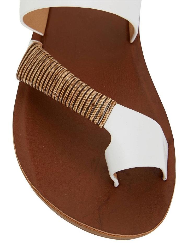 Gidget White Smooth Sandal image 5