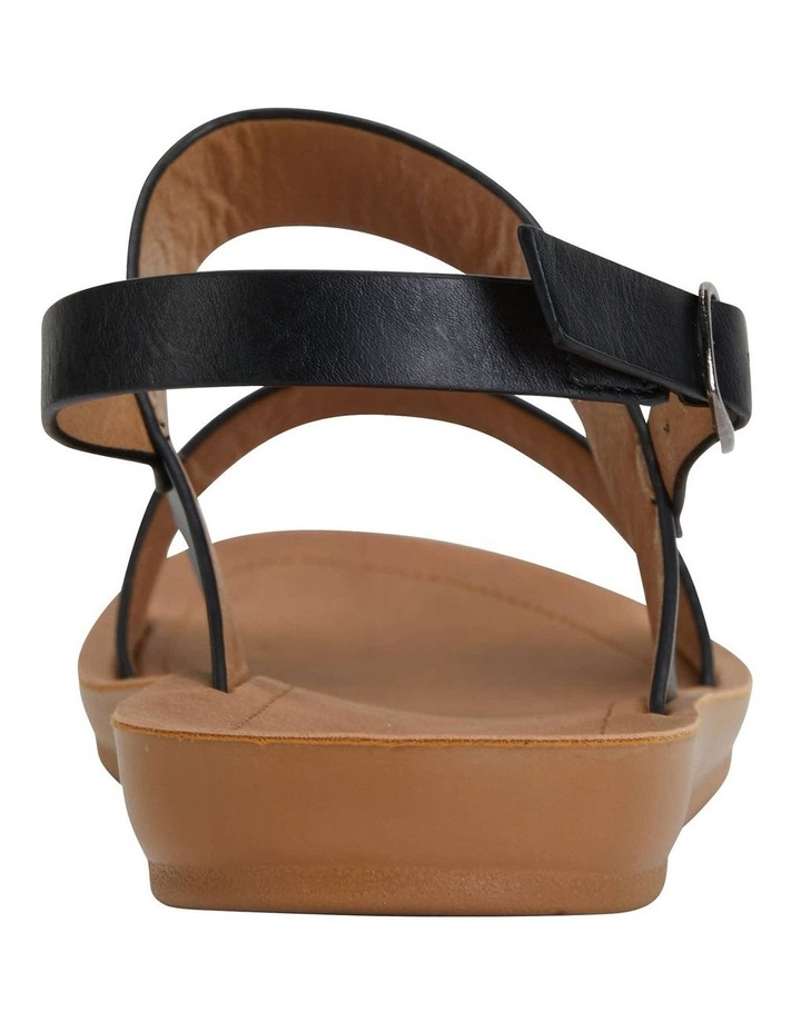 Ginger Black Smooth Sandal image 7