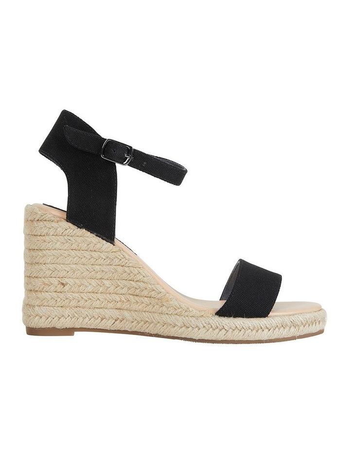 Audrey Black Linen Sandal image 1