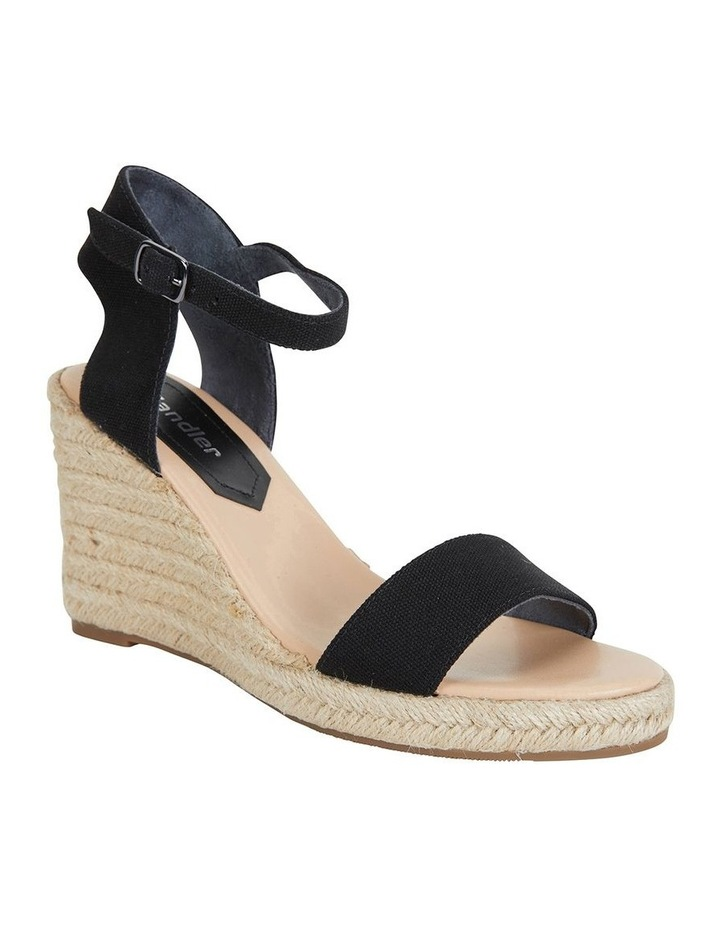 Audrey Black Linen Sandal image 2