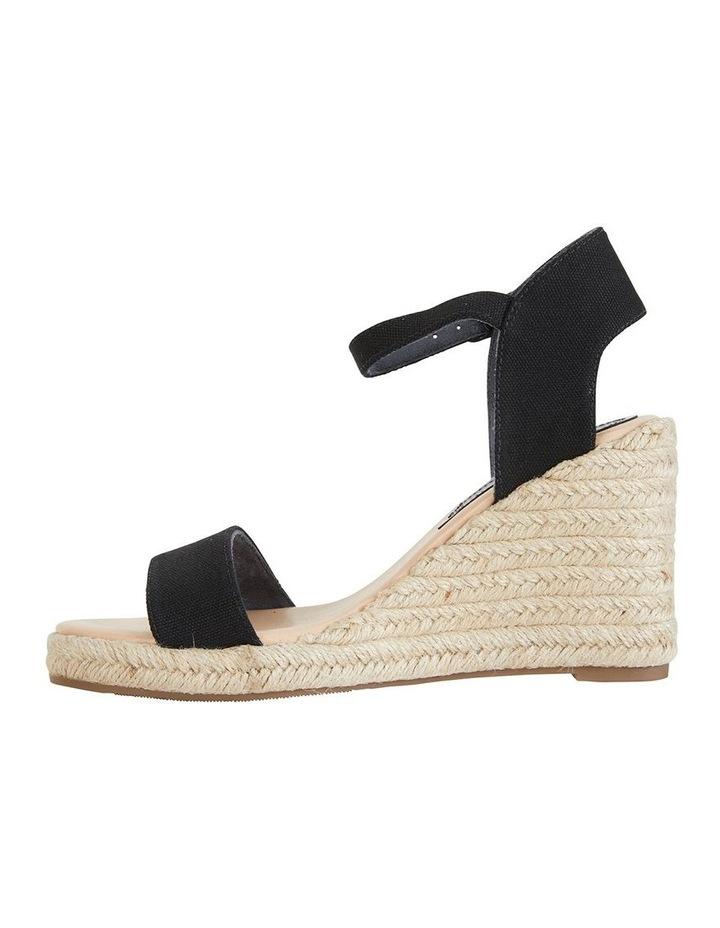 Audrey Black Linen Sandal image 3
