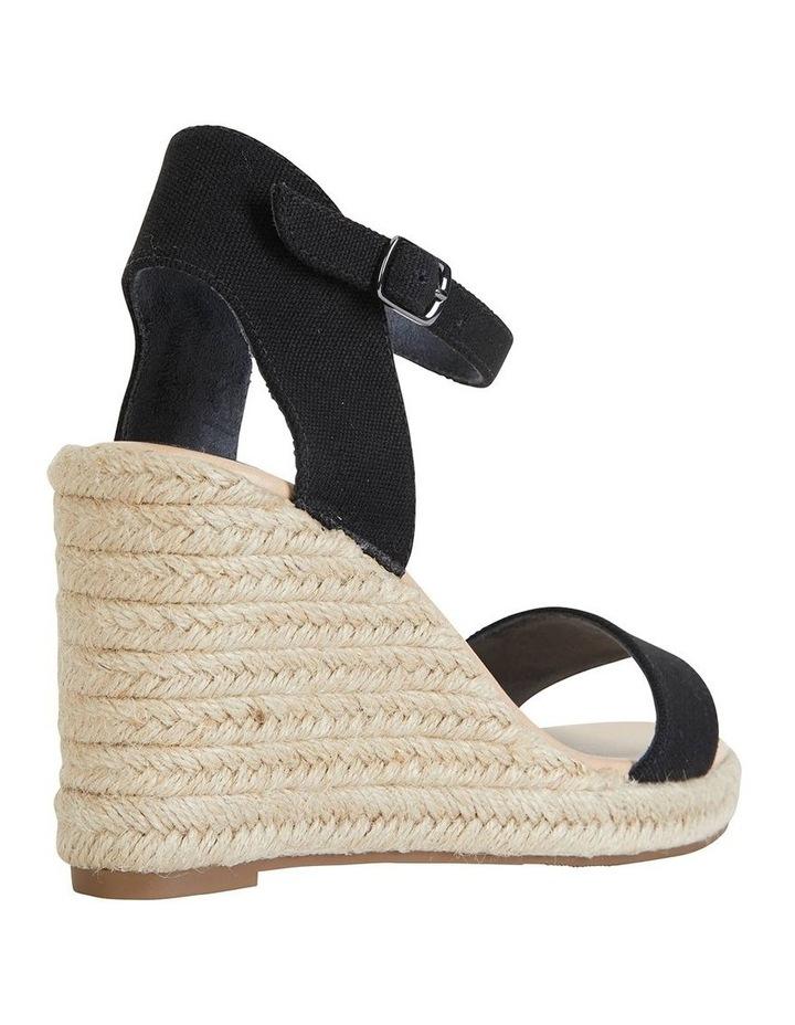 Audrey Black Linen Sandal image 4