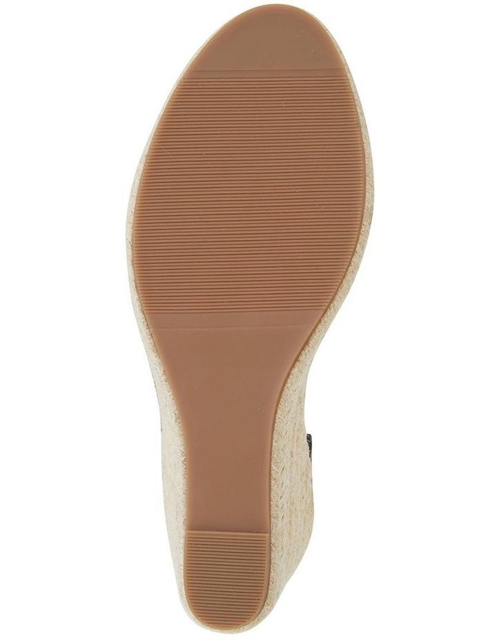 Audrey Black Linen Sandal image 5