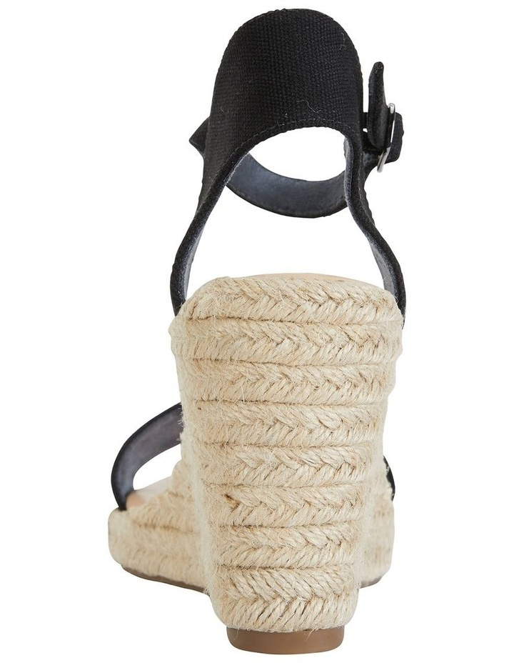 Audrey Black Linen Sandal image 6