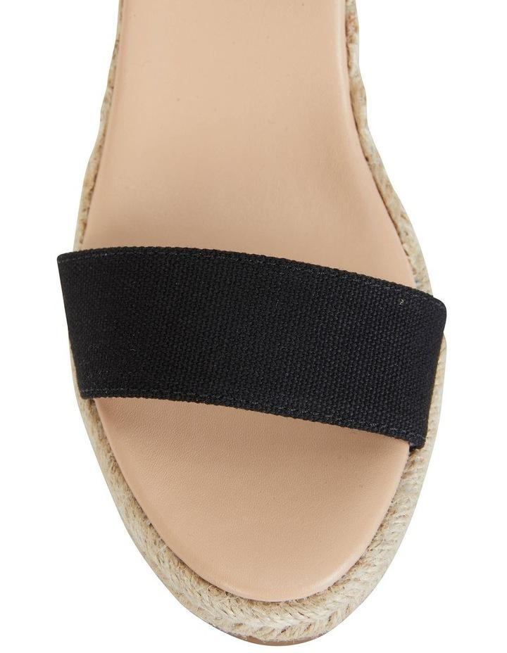 Audrey Black Linen Sandal image 7