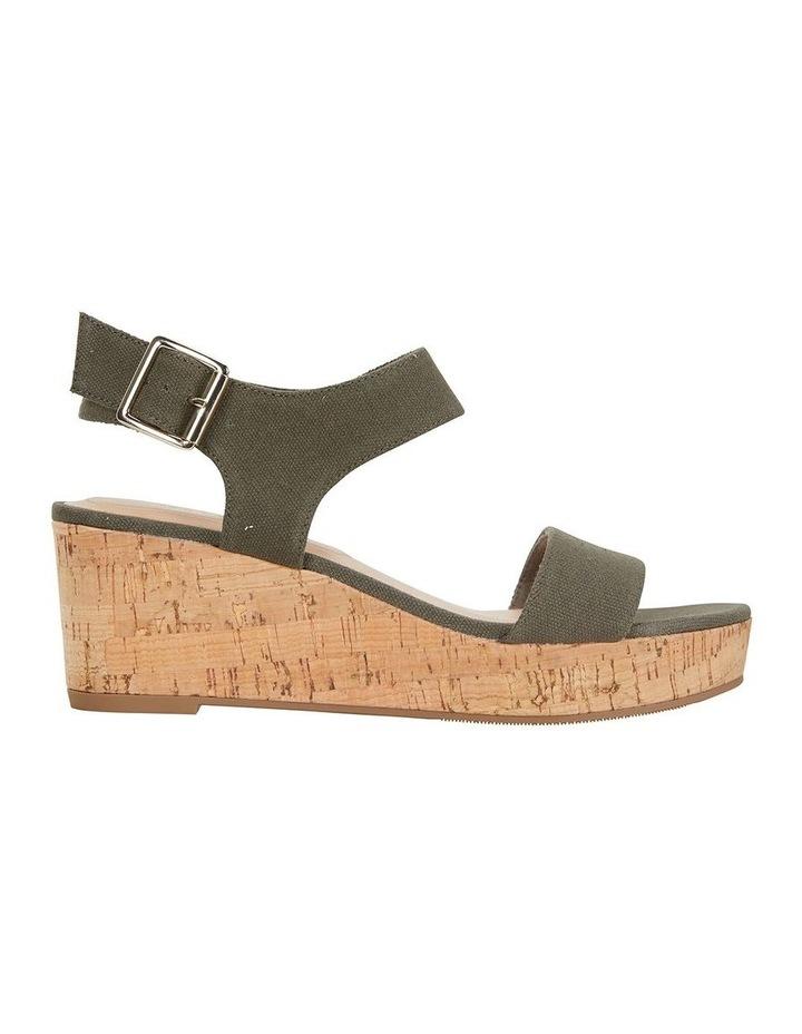 Ember Khaki Linen Sandal image 1