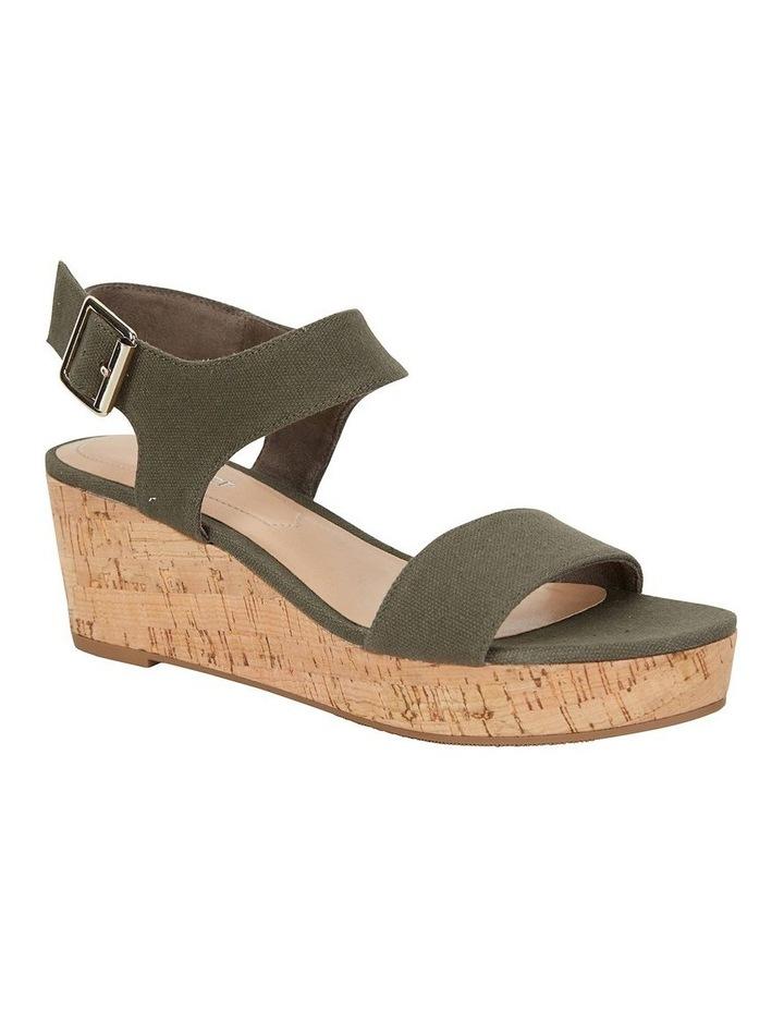Ember Khaki Linen Sandal image 2