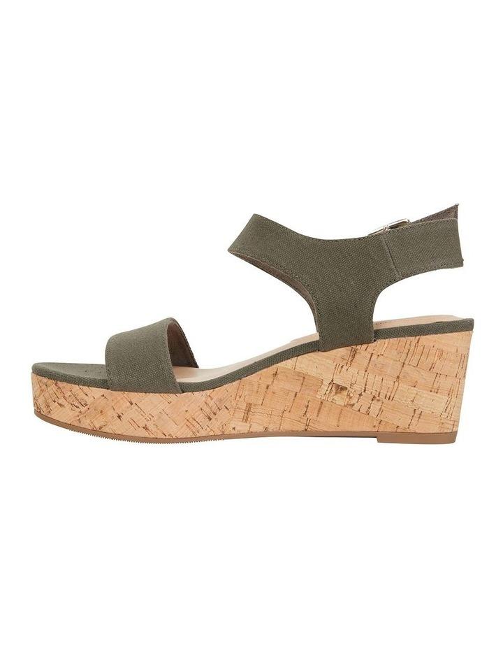 Ember Khaki Linen Sandal image 3