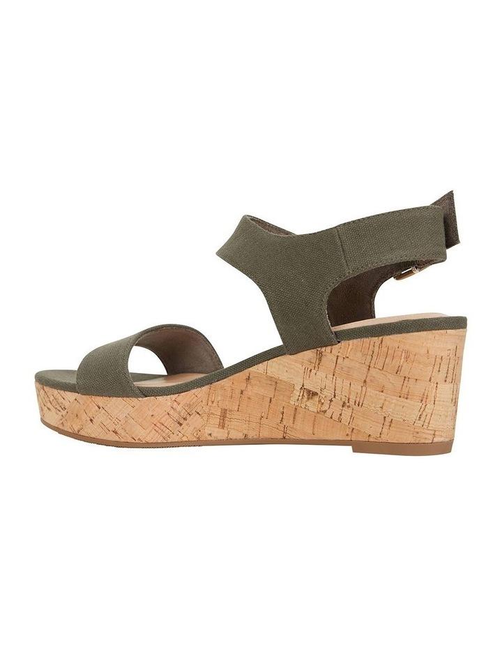 Ember Khaki Linen Sandal image 4