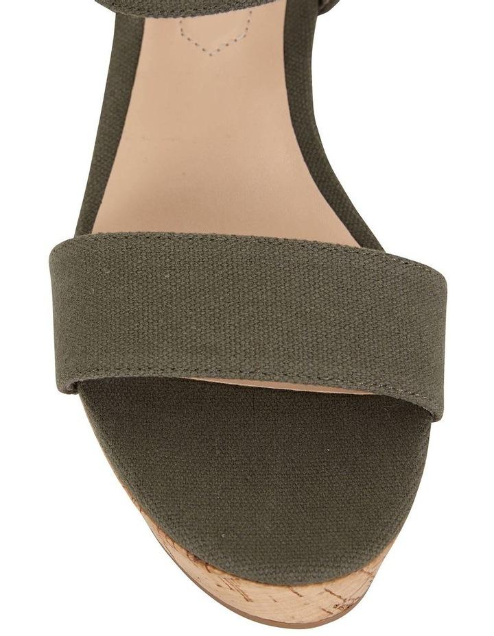 Ember Khaki Linen Sandal image 5