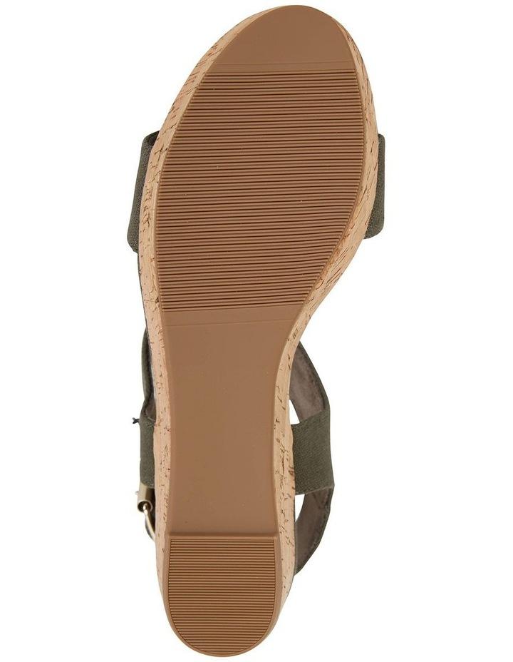 Ember Khaki Linen Sandal image 6