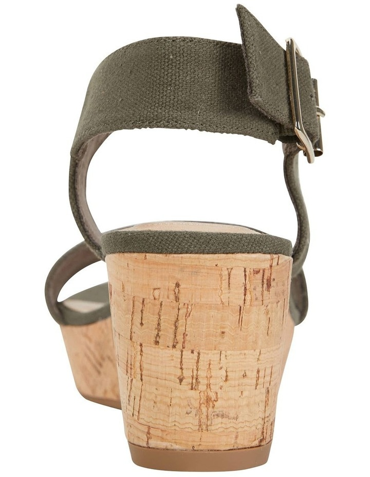 Ember Khaki Linen Sandal image 7