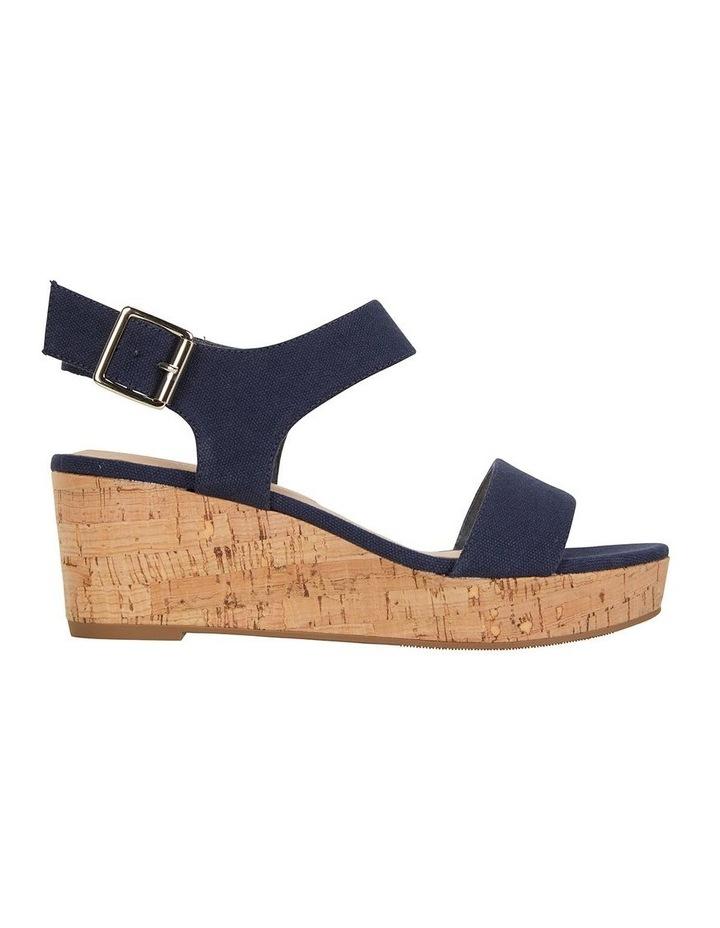 Ember Navy Linen Sandal image 1