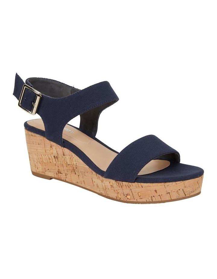 Ember Navy Linen Sandal image 2