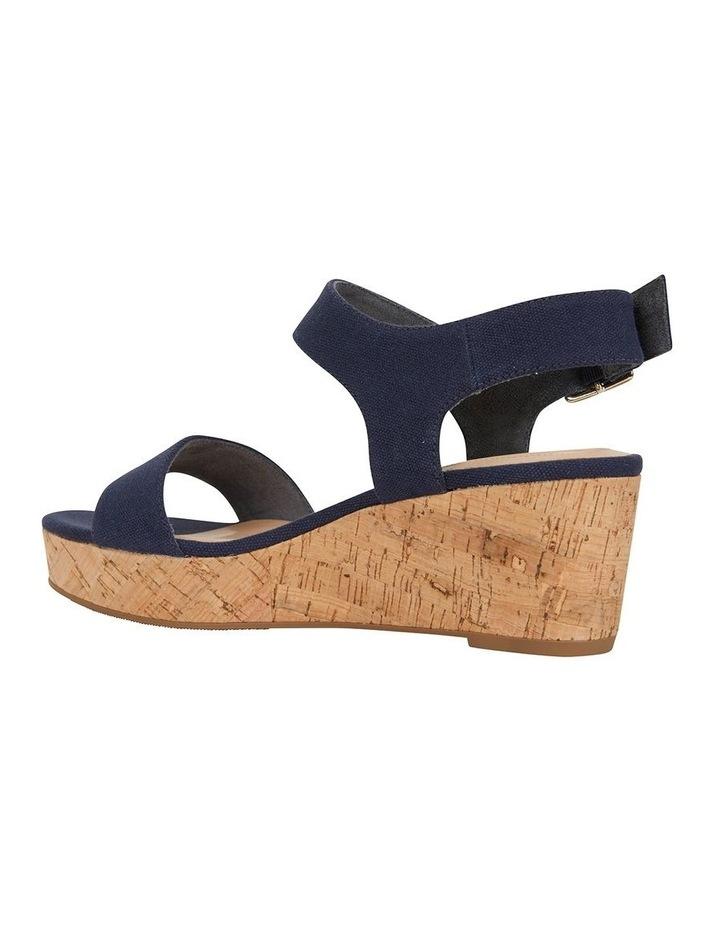 Ember Navy Linen Sandal image 4