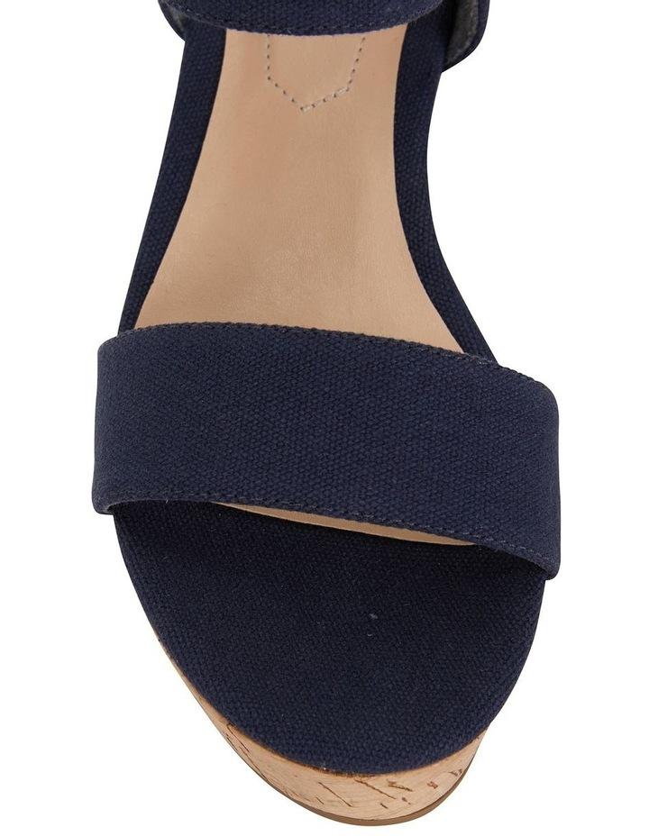 Ember Navy Linen Sandal image 5