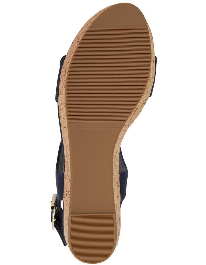 Ember Navy Linen Sandal image 6