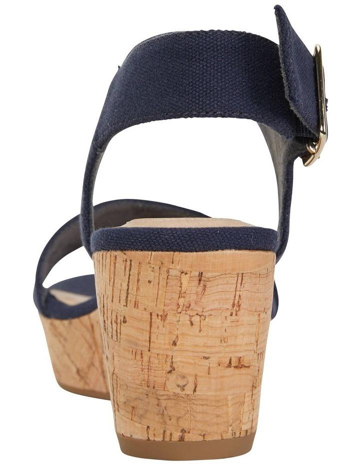 Ember Navy Linen Sandal image 7