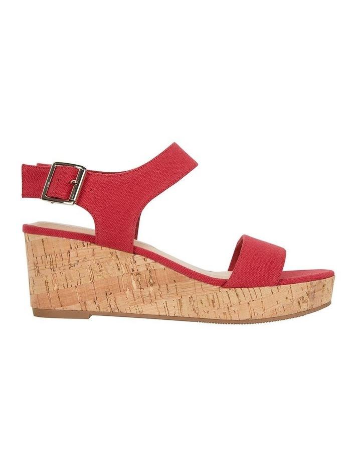 Ember Red Linen Sandal image 1