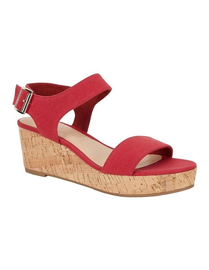 Ember Red Linen Sandal image 2