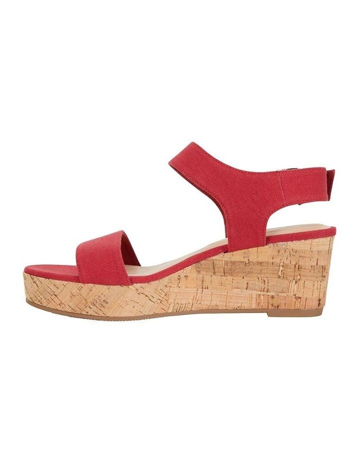 Ember Red Linen Sandal image 3