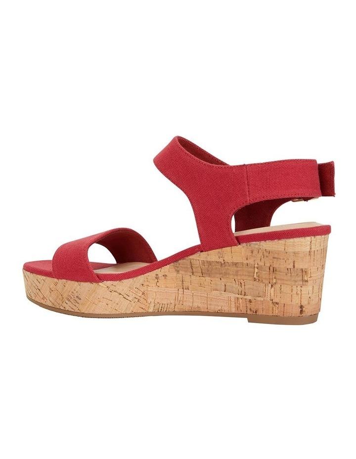 Ember Red Linen Sandal image 4