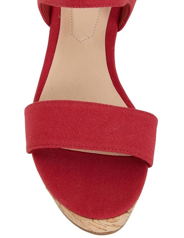 Ember Red Linen Sandal image 5