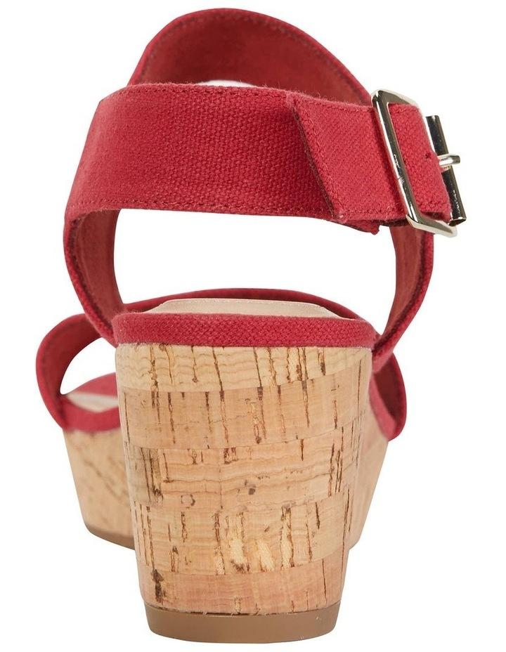 Ember Red Linen Sandal image 7