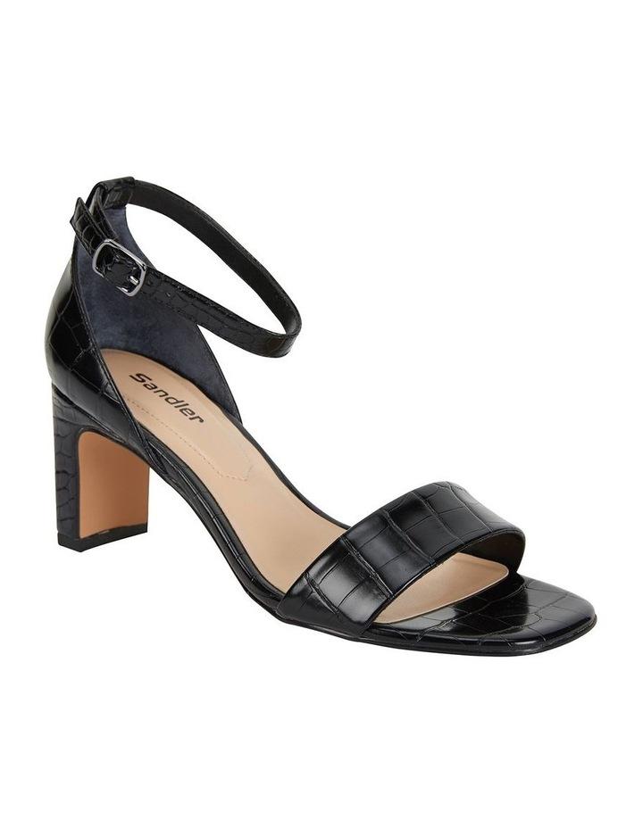 Harper Black Croc Sandal image 2