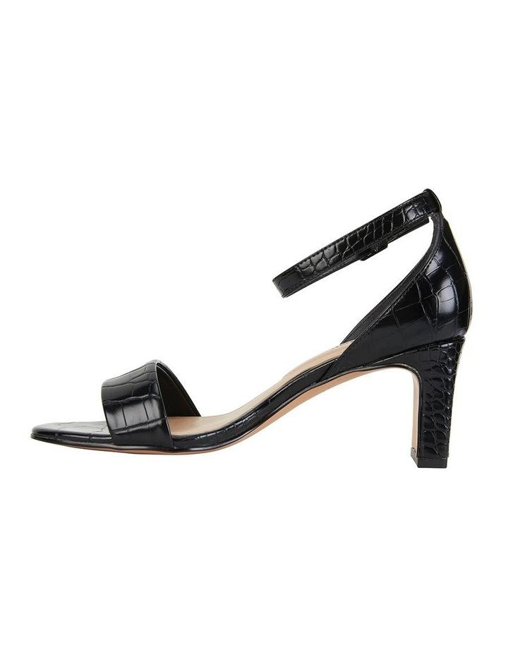 Harper Black Croc Sandal image 3
