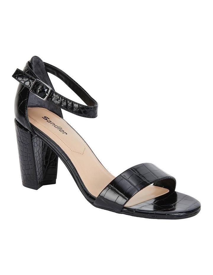 Juliet Black Croc Sandals image 2