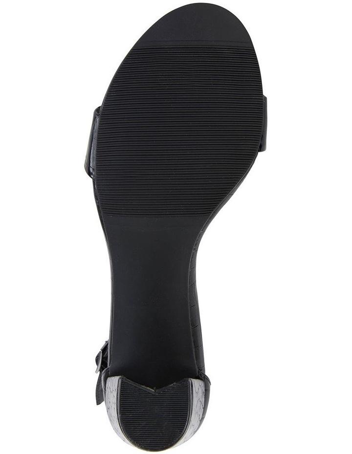 Juliet Black Croc Sandals image 5