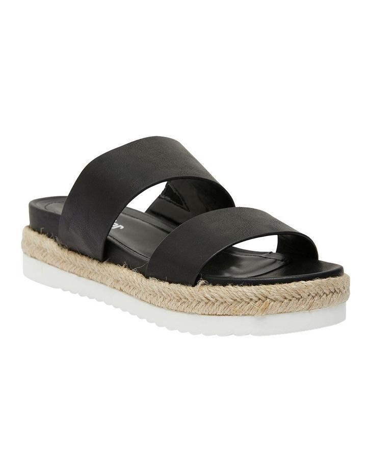 Wagon Black Smooth Sandal image 2