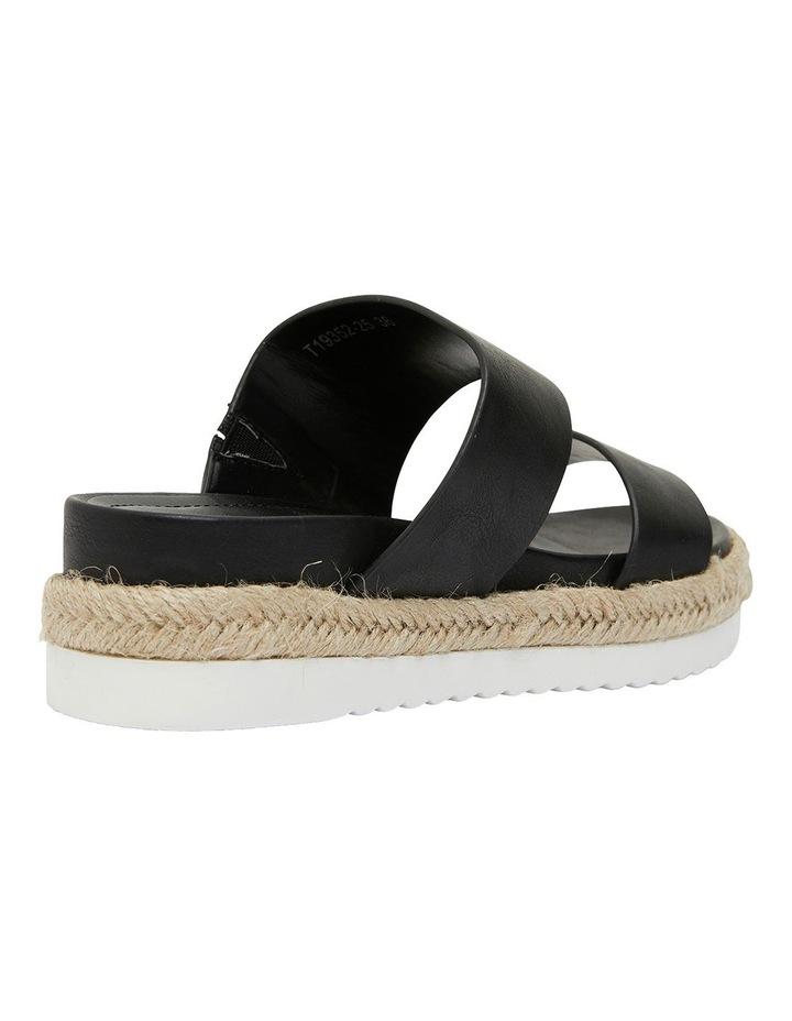 Wagon Black Smooth Sandal image 4