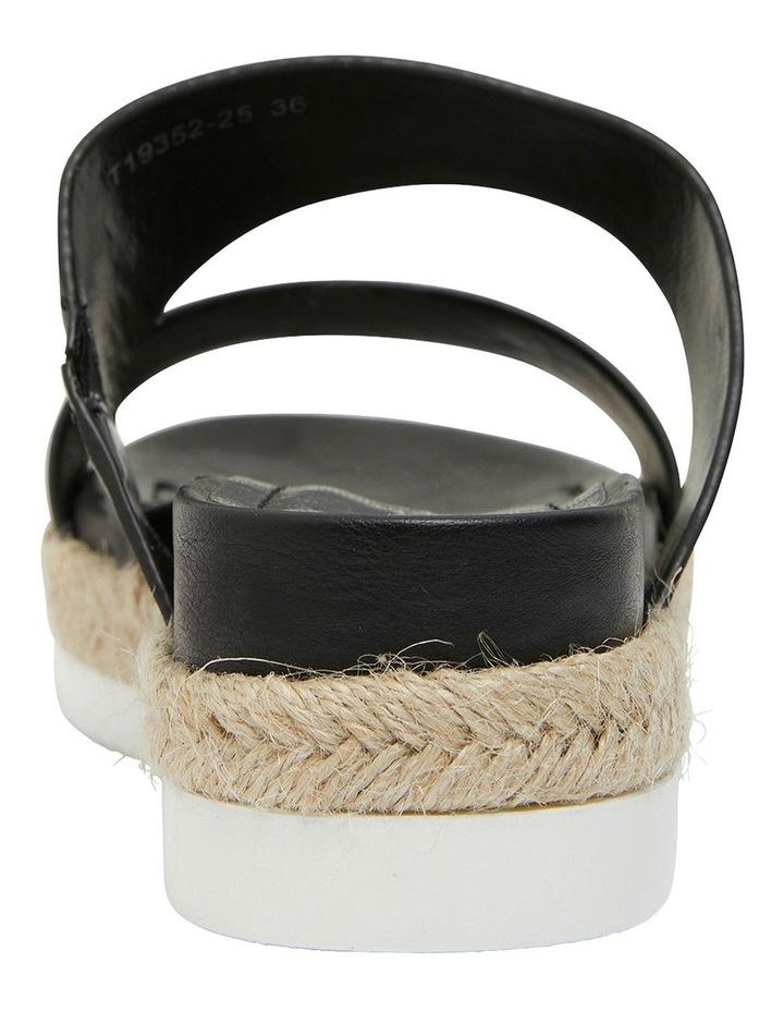 Wagon Black Smooth Sandal image 5