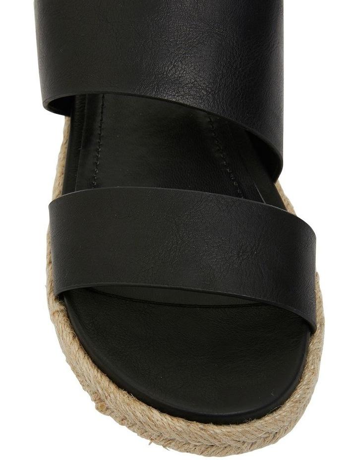 Wagon Black Smooth Sandal image 6