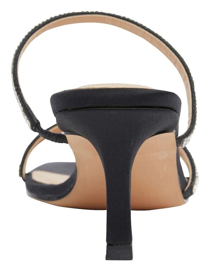 Marcy Black Fabric Sandal image 5