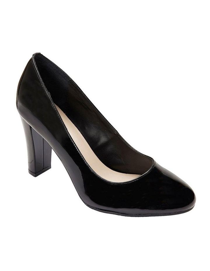 Alibi Black Patent Heeled Shoes image 3