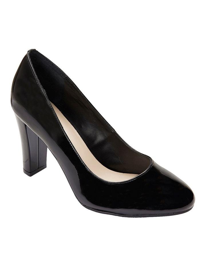 Alibi Black Patent Heeled Shoes image 4