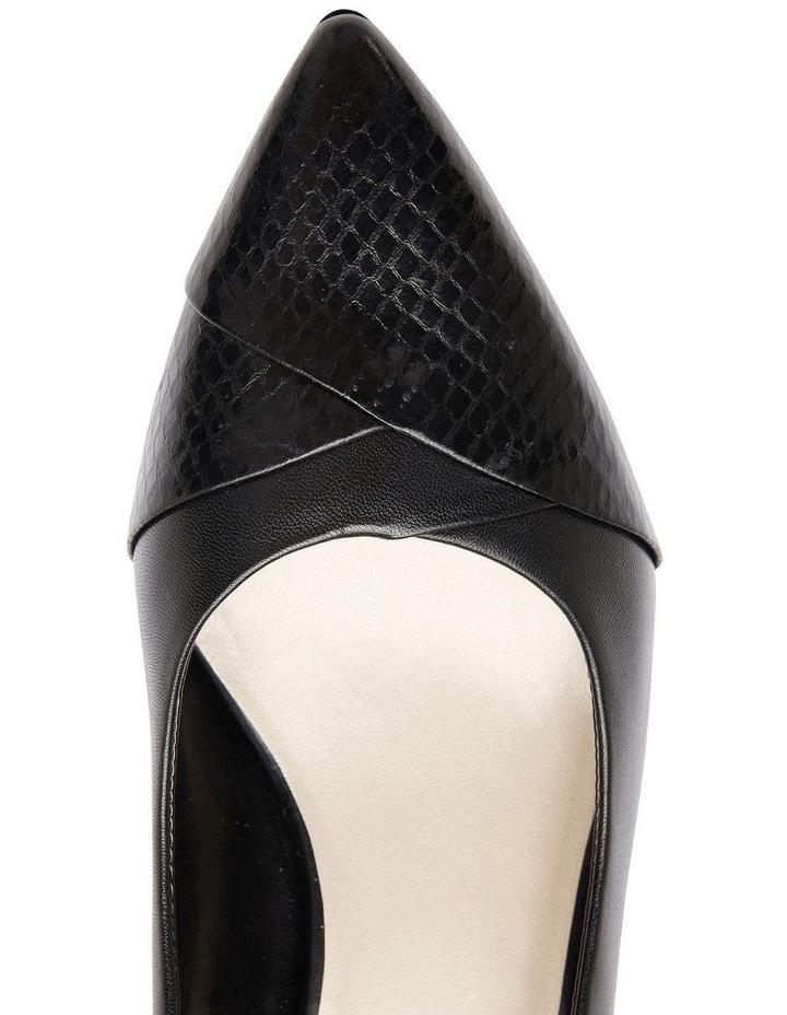 Newport Black Snake Print / Kid Heeled Shoes image 7