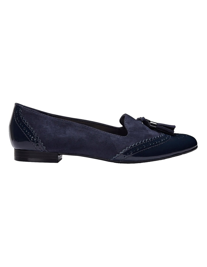Trudy Navy Patent/Suede Loafer image 1