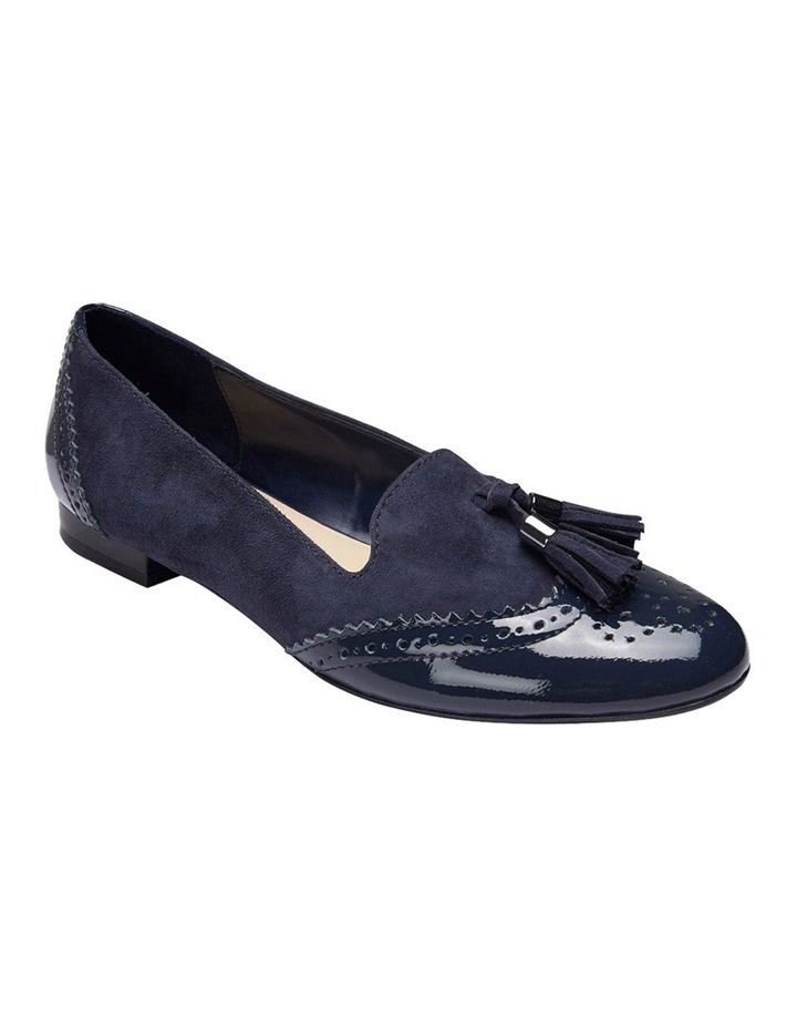 Trudy Navy Patent/Suede Loafer image 2