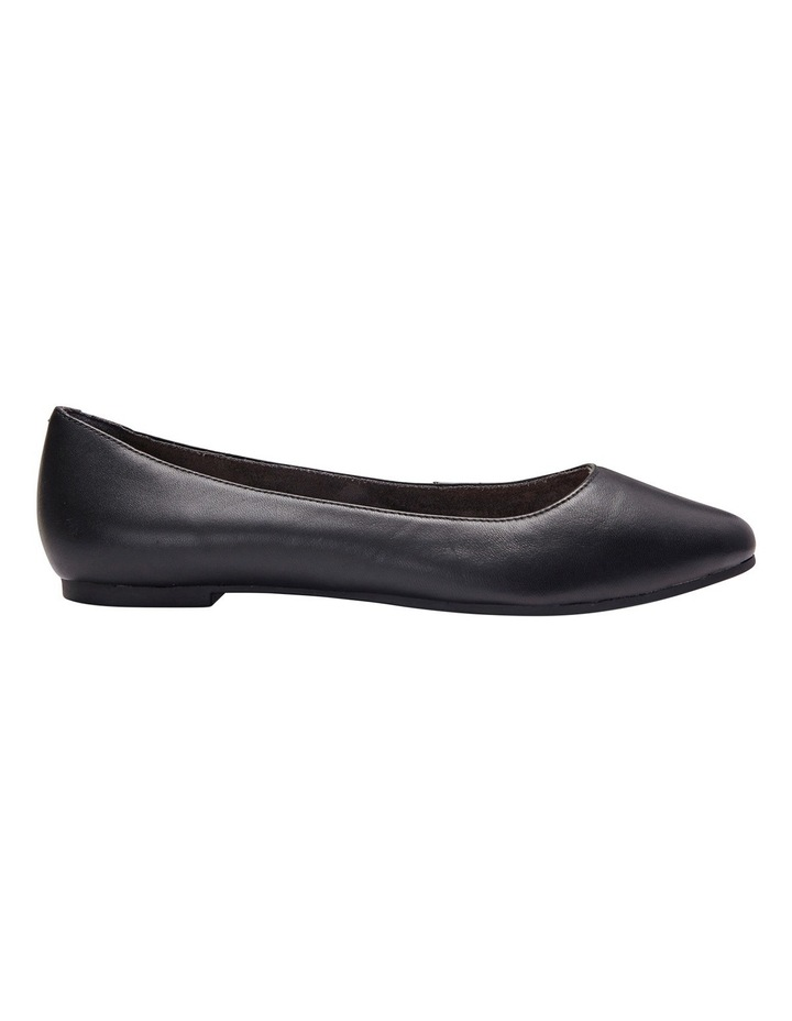 Lucia Black Glove Flat Shoes image 2