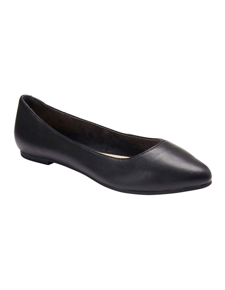 Lucia Black Glove Flat Shoes image 3