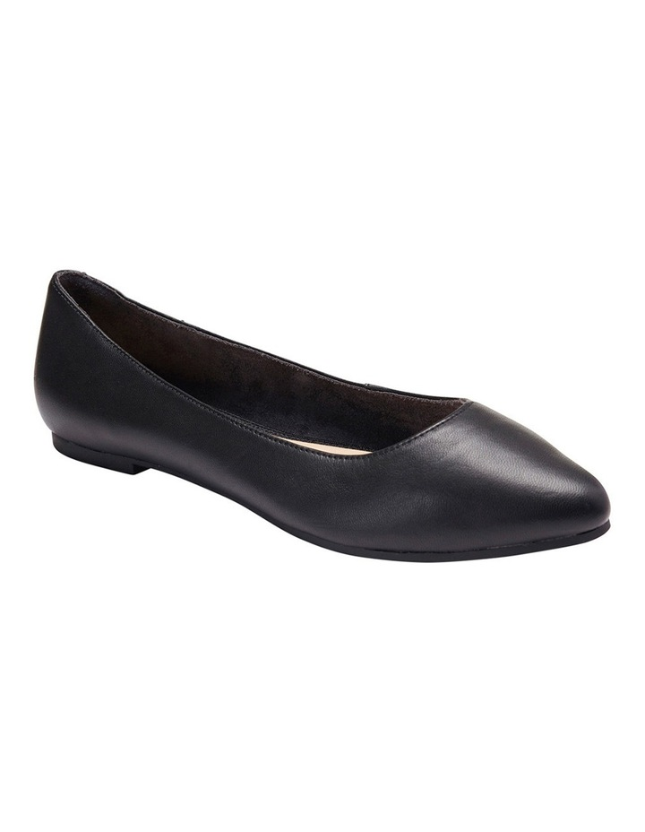 Lucia Black Glove Flat Shoes image 4